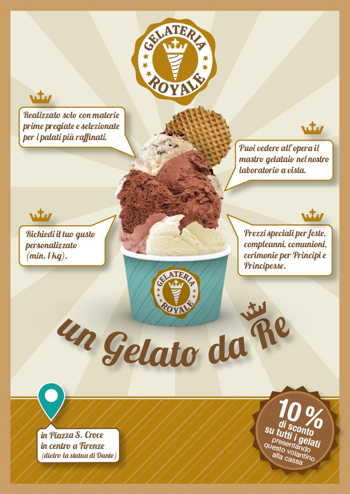 promo -10% gelateria royale Firenze